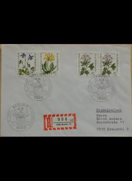 Vokietija, Vakarų Berlynas 1983m pirmos dienos vokas su MiNr 703-704, 706