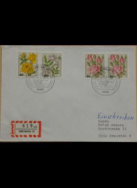 Vokietija, Vakarų Berlynas 1982m pirmos dienos vokas su MiNr 680-681, 683