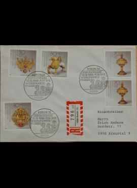 Vokietija, Vakarų Berlynas 1988m pirmos dienos vokas su MiNr 818-821