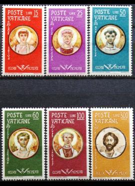 Vatikanas, pilna serija MiNr 307-312 MNH**