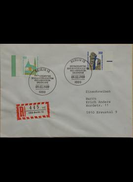 Vokietija, Vakarų Berlynas 1989m pirmos dienos vokas su MiNr 834-835
