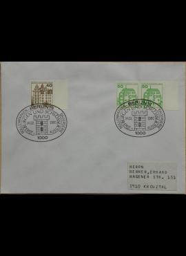 Vokietija, Vakarų Berlynas 1980m pirmos dienos vokas su MiNr 614-615