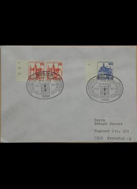 Vokietija, Vakarų Berlynas 1979m pirmos dienos vokas su MiNr 587-588