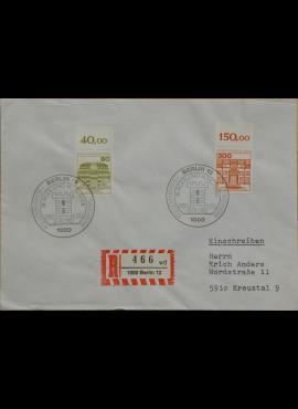 Vokietija, Vakarų Berlynas 1982m pirmos dienos vokas su MiNr 674, 677