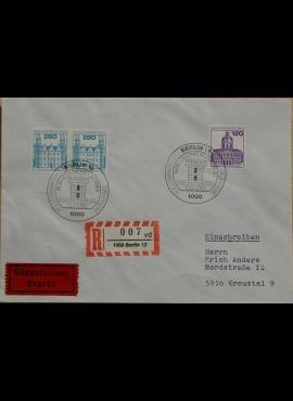 Vokietija, Vakarų Berlynas 1982m pirmos dienos vokas su MiNr 675-676
