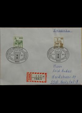 Vokietija, Vakarų Berlynas 1977m pirmos dienos vokas su MiNr 537, 540