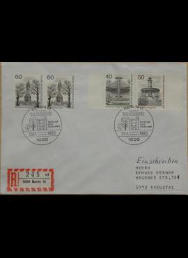 Vokietija, Vakarų Berlynas 1980m pirmos dienos vokas su MiNr 634-636