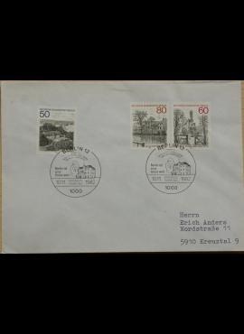 Vokietija, Vakarų Berlynas 1982m pirmos dienos vokas su MiNr 685-687