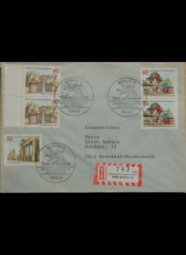Vokietija, Vakarų Berlynas 1986m pirmos dienos vokas su MiNr 761-763