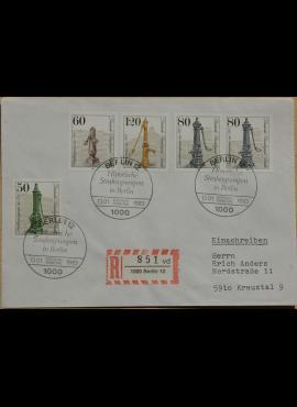 Vokietija, Vakarų Berlynas 1983m pirmos dienos vokas su MiNr 689-692