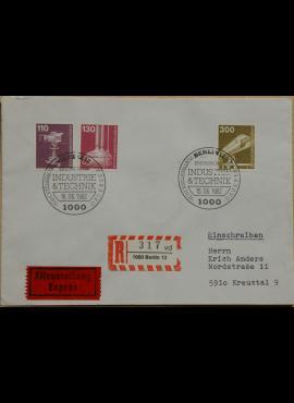Vokietija, Vakarų Berlynas 1982m pirmos dienos vokas su MiNr 668-669, 672