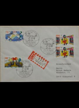 Vokietija, Vakarų Berlynas 1989m pirmos dienos vokas su MiNr 839-841