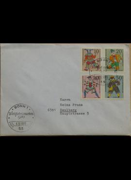 Vokietija 1970m pirmos dienos vokas su MiNr 650-653