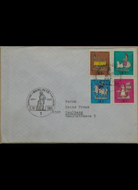 Vokietija, Vakarų Berlynas 1969m pirmos dienos vokas su MiNr 348-351
