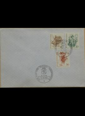 Vokietija, Vakarų Berlynas 1969m pirmos dienos vokas su MiNr 332, 334, 336