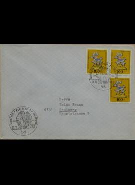 Vokietija 1969m pirmos dienos vokas su MiNr 610