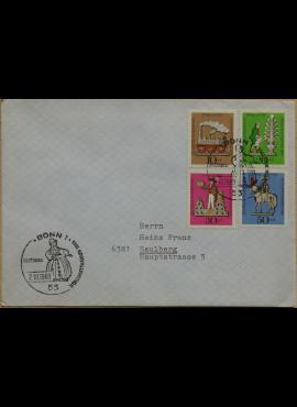 Vokietija 1969m pirmos dienos vokas su MiNr 604-607