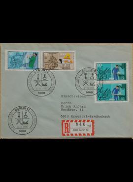 Vokietija, Vakarų Berlynas 1986m pirmos dienos vokas su MiNr 754, 756-757