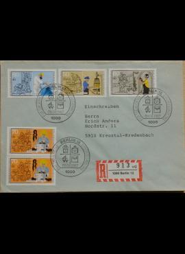 Vokietija, Vakarų Berlynas 1987m pirmos dienos vokas su MiNr 780-783