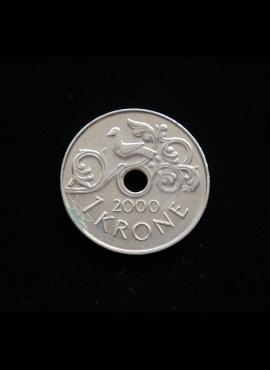 Norvegija, 1 krona, 2000m A