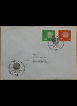 Vokietija 1970m pirmos dienos vokas su MiNr 620-621