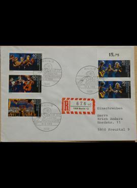 Vokietija, Vakarų Berlynas 1988m pirmos dienos vokas su MiNr 807-810