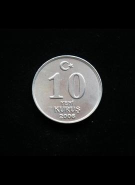 Turkija, 10 naujųjų kurušų 2006m