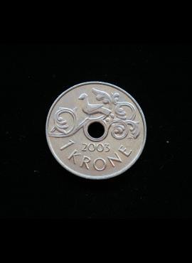 Norvegija, 1 krona, 2003m