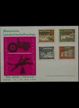 Vokietija, Vakarų Berlynas 1965m proginis atvirlaiškis su MiNr 218-221