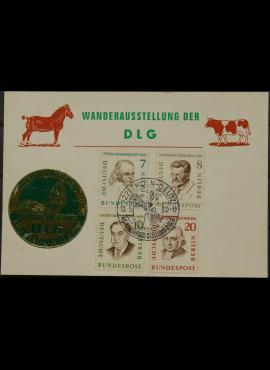 Vokietija, Vakarų Berlynas 1960m proginis atvirlaiškis su MiNr 163-165, 167