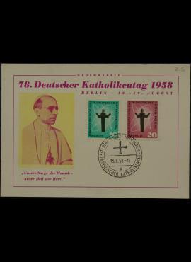 Vokietija, Vakarų Berlynas 1958m proginis atvirlaiškis su MiNr 179-180
