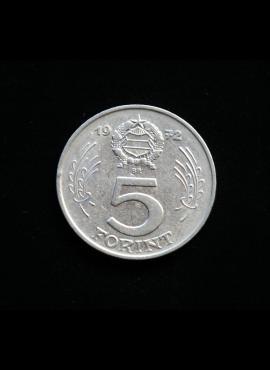 Vengrija, 5 forintai, 1972m