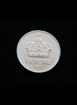 Norvegija, 1 krona, 1982m
