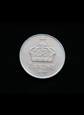 Norvegija, 1 krona, 1977m