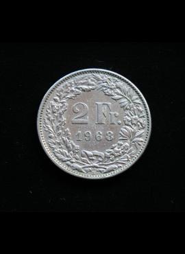 Šveicarija, 2 frankai 1968m - B