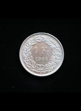 Šveicarija, 1 frankas 1986m