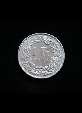 Šveicarija, 1 frankas 1970m