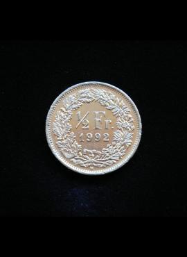 Šveicarija, 1/2 franko 1992m