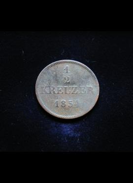 Sakse-Meiningenas, 1/2 kreicerio 1854m E