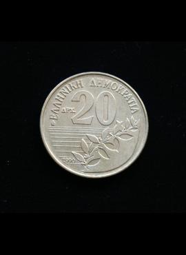 Graikija, 20 drachmų, 1990m