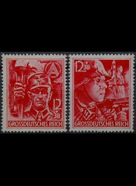 Vokietijos Reichas, pilna serija MiNr 909-910 MLH*