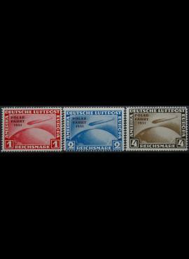 Vokietijos Reichas, pilna serija MiNr 456-458 KOPIJOS