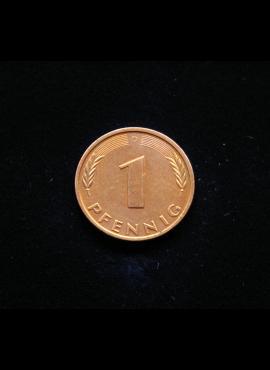 Vokietija, 1 pfenigas 1996m-D