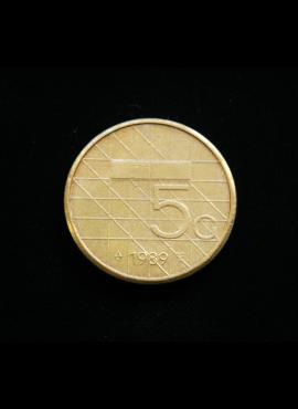 Nyderlandai, 5 guldenai 1989m