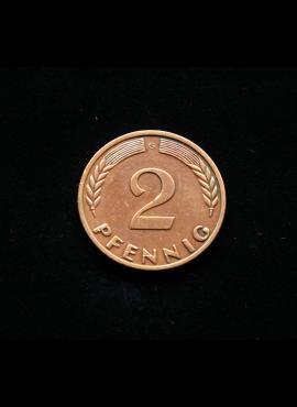 Vokietija, 2 pfenigai 1969m-G