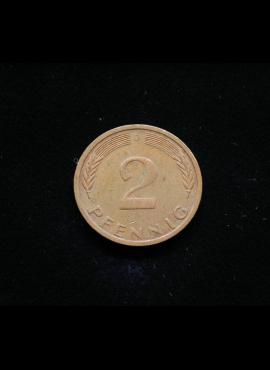Vokietija, 2 pfenigai 1971m-D
