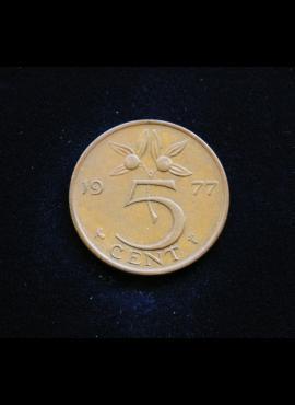 Nyderlandai, 5 centai 1977m