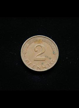 Vokietija, 2 pfenigai 1978m-D