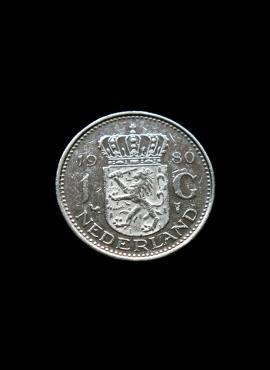 Nyderlandai, 1 guldenas 1980m
