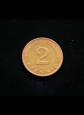 Vokietija, 2 pfenigai 1988m-D
